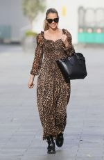 Vogue Williams Makes radio appearance in animal print dress in London