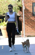 Wallis Day Out with her dog in Vancouver