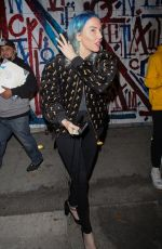 Whitney Cummings Fools around with photographers after she haves dinner at Craig