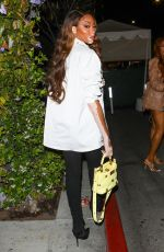 Winnie Harlow Stuns as she is seen leaving a late dinner at the Italian restaurant Il Pastaio in Los Angeles
