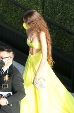 Zendaya Arriving at the 93rd Annual Academy Awards at Union Station in Los Angeles
