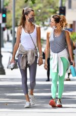 Alessandra Ambrosio Attends her daily Pilates class in Brentwood