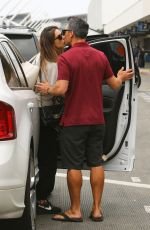 Alessandra Ambrosio Kisses her boyfriend goodbye as he drops her off at LAX in Los Angeles