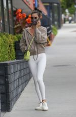 Alessandra Ambrosio Maintains her svelte shape by going to a Pilates class in Santa Monica