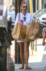 Alessandra Ambrosio Out shopping in an all-white outfit in Brentwood