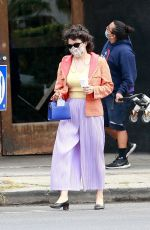 Alia Shawkat Sports a colorful outfit while out on an afternoon coffee run in Los Feliz