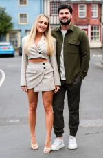 Amber Turner At The Only Way is Essex TV Show filming in Cromer, Norfolk