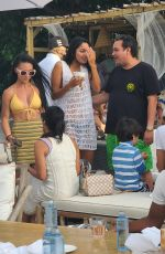 Ambra Gutierrez and accuser of allegations against Harvey Weinstein is spotted partying for her birthday at Joia Beach in Miami