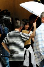 Ana De Armas Is spotted on set filming her latest film role out on location in Palma De Mallorca