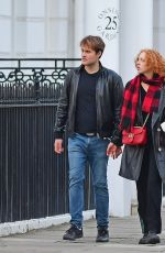 Anna Ermakova Is pictured enjoying a stroll with her boyfriend in London