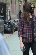 Anne Hathaway Is seen on the set of