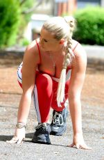 Apollonia Llewellyn Working out in a park in Manchester