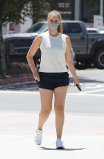 April Love Geary Has her thighs out for errands in sunny Malibu