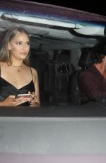 April Love Geary Looks stylish after dinner at Craig