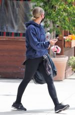 Ashlee Simpson Was spotted leaving the gym in Los Angeles