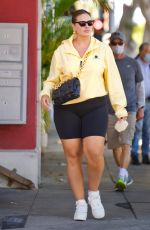 Ashley Graham Flaunts Her Curves In Bike Shorts And Yellow Windbreaker On Sunny Day In Santa Monica