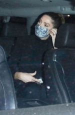 Ashley Greene All smiles as she hops in the car with friends after grabbing a late-night bite at Craig