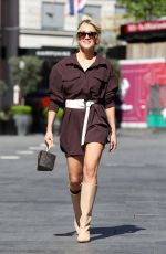 Ashley Roberts Pictured at Heart radio in London