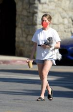 Ashley Tisdale Pictured Grabbing Refreshments in Los Angeles