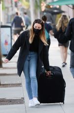 Aubrey Plaza Spotted with a suitcase in Los Angeles