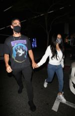 Becky G At BOA steakhouse in West Hollywood