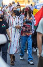 Bella Hadid Spotted taking part in a Palestinian rally in New York City