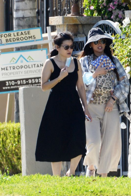 Brenda Song Out with her new baby in LA