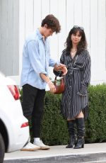 Camila Cabello Steps out for a meal with friends at the San Vicente Bungalows in West Hollywood