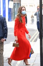 Catherine Duchess of Cambridge Seen arriving at The National Portrait Gallery in London