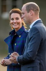 Catherine Duchess of Cambridge Visits a Drive-In Cinema at the Palace of Holyroodhouse in Edinburgh