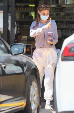 Chantel Jeffries Seen with French braids getting a smoothie at earthbar