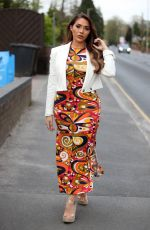 Chloe Brockett At The Only Way is Essex TV Show filming