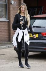 Chloe Sims Seen leaving the gym make up free after a workout in Essex