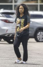 Christina Milian Seen in Los Angeles at Mercedes dealership without makeup