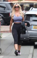 Christine McGuinness Out & About in Liverpool