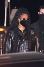 Ciara Steps out in an all black leather outfit as she enjoys a girl