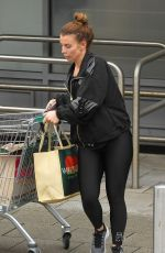 Coleen Rooney Seen doing some shopping at her local supermarket in Alderley Edge