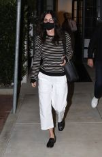 Courteney Cox Leaves a dinner date with friends in Malibu