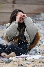 Courtney Green At The Only Way is Essex TV Show filming in Cromer, Norfolk