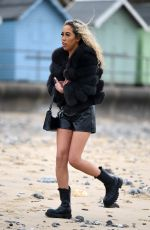 Dani Imbert At The Only Way is Essex TV Show filming in Cromer, Norfolk