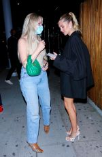 Delilah Hamlin Steps out with the girls for a night out at The Nice Guy in West Hollywood
