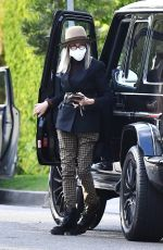 Diane Keaton Heads to dinner in one of her stylish ensembles in Los Angeles