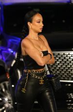 Draya Michele Looks edgy in leather outside Drake