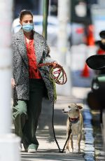 Drew Barrymore Is spotted with her pet dog while out and about in New York