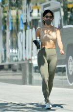 Eiza Gonzalez Displays her washboard abs after leaving Equinox gym in West Hollywood