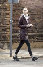 Elizabeth Debicki Who has been cast to play princess Diana in the next series of The Crown is pictured out on a leisurely stroll through London