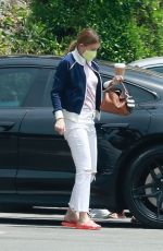 Ellen Pompeo Stops by Jessica The Clinic nail salon to get her nails done in West Hollywood