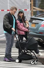 Emily Ratajkowski Out for a walk with her husband and baby in New York