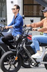 Emma Slater Seen riding on electric bike on Saturday in Los Angeles