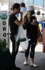 Emma Slater Seen walking around and shopping at the farmers market on Sunday in Los Angeles